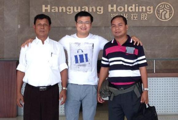 Myanmar customers visit the factory