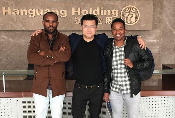 Ethiopian customers come to visit the factory